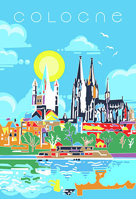 Royalty-Free and Rights-Managed Images - Cologne City Modern by Bekim M
