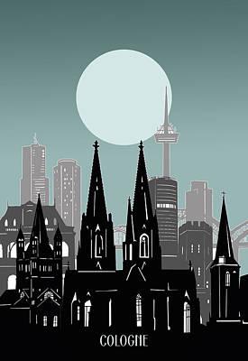 Antlers - Cologne Skyline Minimal by Bekim M