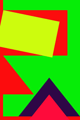 Royalty-Free and Rights-Managed Images - Color Combination of Geometric Abstraction No 2 by Ahmet Asar by Celestial Images