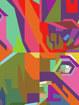 Royalty-Free and Rights-Managed Images - Colorful Abstract Pop Art 0112 by Ahmad Nusyirwan