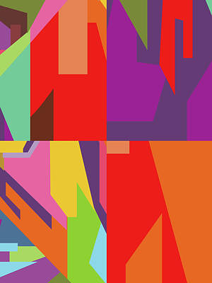 Royalty-Free and Rights-Managed Images - Colorful Abstract Pop Art 0114 by Ahmad Nusyirwan
