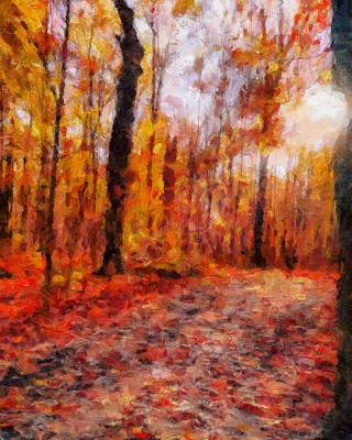 Keith Richards - Colorful Autumn Path by Dan Sproul
