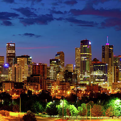 Royalty-Free and Rights-Managed Images - Colorful Colorado - Denver Skyline at Dawn by Gregory Ballos