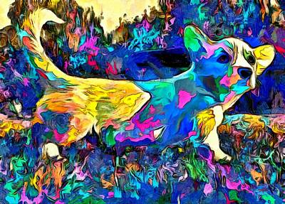 Mixed Media Royalty Free Images - Colorful Dachshund Friend Royalty-Free Image by Maciek Froncisz