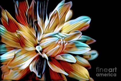 Staff Picks Cortney Herron - Colorful Dahlia. by Cecile Truchon DecArt  Decorative Art  Photography