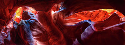 Namaste With Pixels Royalty Free Images - Colorful Display Of Light In Antelope Canyon - Panoramic Collage Royalty-Free Image by Gregory Ballos