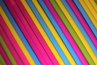 Abstract Royalty-Free and Rights-Managed Images - Colorful drink straws by Valentin Baciu
