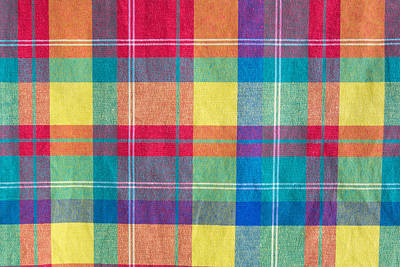 Royalty-Free and Rights-Managed Images - colorful fabric plaid texture. Cloth background by Julien