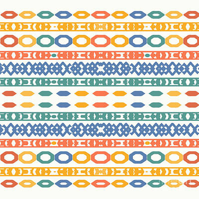 Rose - Colorful Geometric Pattern by Sheila Wenzel