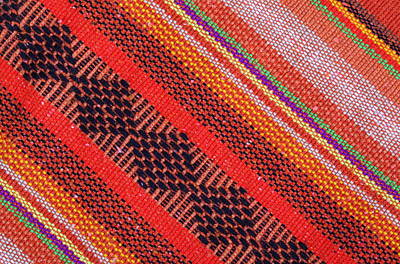 Curated Travel Chargers - Colorful knitwear with multi color of the rope as a background.  by Julien