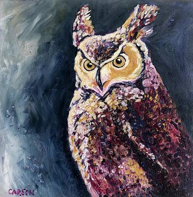 Painting - Colorful Owl by Susan Carson
