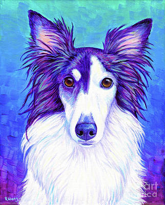 Painting - Colorful Silken Windhound by Rebecca Wang