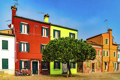 Rose - Colorful Street In Burano by Chris Lord