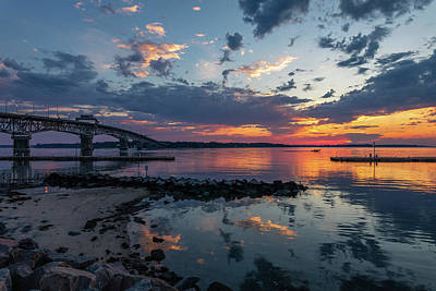 Impressionist Nudes Old Masters - Colorful Yorktown Sunrise  by Rachel Morrison