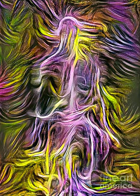 Surrealism Digital Art Rights Managed Images - Colors of spirit Royalty-Free Image by Bruce Rolff