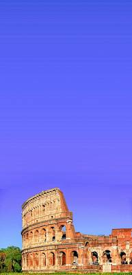 Royalty-Free and Rights-Managed Images - Colosseo under blue sky by Stefano Senise
