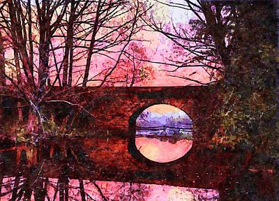 Halloween Movies - Colourful sunset, Palmer Bridge, New York by Joe Vella