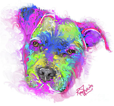 Painting - Colours of a pup by Remy Francis