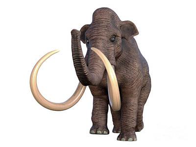 Bath Time - Columbian Mammoth Walking by Corey Ford
