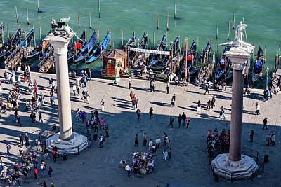 Whats Your Sign - Columns on St. Marks Square - Venice by Barry O Carroll