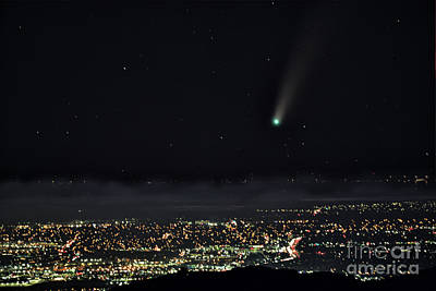 Beer Blueprints - Comet Neowise over San Francisco South Bay by Bipul Haldar