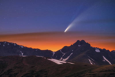 Royalty-Free and Rights-Managed Images - Comet Neowise Over The Citadel  by Darren White