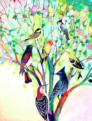 Animals Paintings - Coming Together by Jennifer Lommers