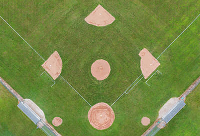 Royalty-Free and Rights-Managed Images - Community Baseball Field Via Drone by Steve Gadomski