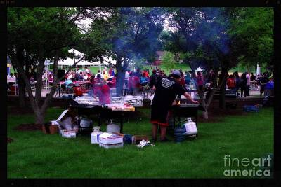 Frank J Casella Royalty-Free and Rights-Managed Images - Community Picnic by Frank J Casella