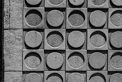 David Bowie - Concrete Exterior Wall with Circles by Robert Ullmann