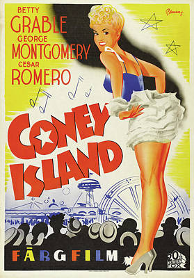 Advertising Archives - Coney Island poster 1943 by Stars on Art