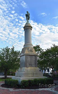 The Beach House - Confederate Statue Orangeburg Sc by Skip Willits