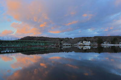David Bowie Royalty Free Images - Connecticut River Turners Falls Sunset Royalty-Free Image by John Burk
