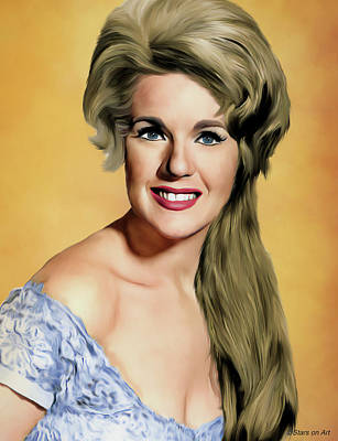 Royalty-Free and Rights-Managed Images - Connie Stevens illustration by Stars on Art