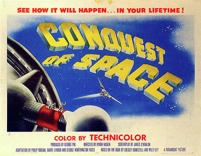 Mixed Media Royalty Free Images - Conquest of Space poster 1955 Royalty-Free Image by Stars on Art