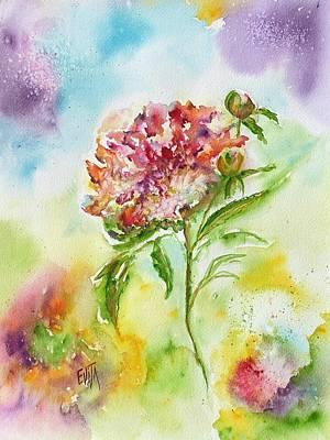 Painting - Contemplation by Evita Kristapsone