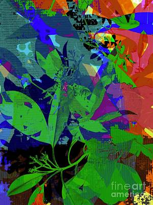David Bowie Royalty Free Images - Contemporary Abstract Foliage Royalty-Free Image by Sarah Niebank