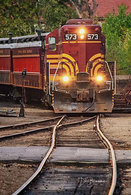 Dan Beauvais Royalty-Free and Rights-Managed Images - Conway Scenic Railroad 573 7757 by Dan Beauvais
