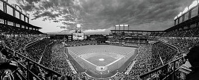 Featured Tapestry Designs - Coors Field Black and White by Greg Wyatt
