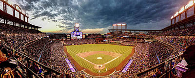 Staff Picks Judy Bernier Rights Managed Images - Coors field evening Royalty-Free Image by Greg Wyatt