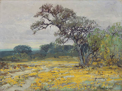 Popstar And Musician Paintings Royalty Free Images - Coreopsis Near San Antonio Texas by Julian Onderdonk 1919 Royalty-Free Image by Arpina Shop