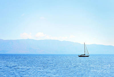 Winter Animals Royalty Free Images - Corfu, Greece, sailing boat on the sea Royalty-Free Image by Katarzyna Krawiec