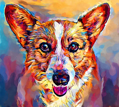 Outdoor Graphic Tees - Corgi 4 by Chris Butler
