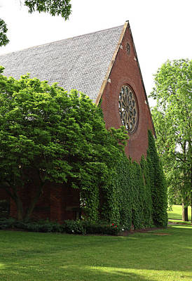 Landscapes Royalty-Free and Rights-Managed Images - Cornell University - Sage Chapel by Allen Beatty