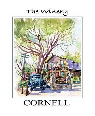 Landscape Photos Chad Dutson - Cornell Winery poster by Luisa Millicent