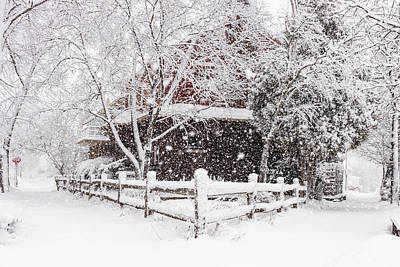 Photograph - Corner Home vs. Thick Eastside Milwaukee Blizzard by Vincent Buckley