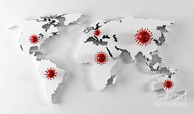 Anne Geddes Florals - Coronavirus COVID-19 on world map by Michal Bednarek