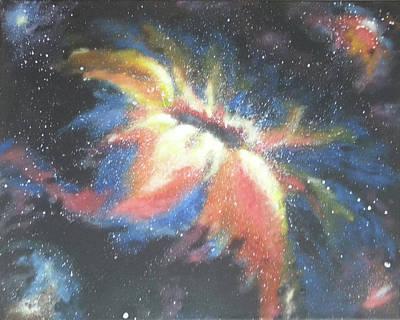 Painting - Cosmic Flower by Lorette Kos