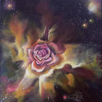 Painting - Cosmic Rose by Lorette Kos