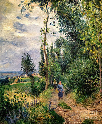 Lady Bug - Cote des Grouettes Near Pontoise by Camille Pissarro 1878 by Camille Pissarro
